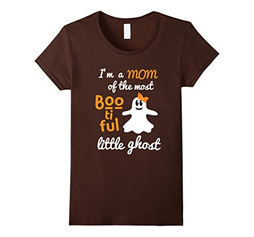 Womens Mom of a Bootiful Ghost Halloween Shirt Mother Costume Small Brown - Homemade Halloween Costumes For Moms