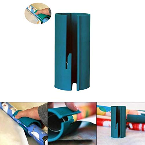 KOBWA Wrapping Paper Cutter Mini Portable Small Utility Wrapping Paper Cutting Tools, Easy & Quick, Creative Sliding Paper Roll Cutter