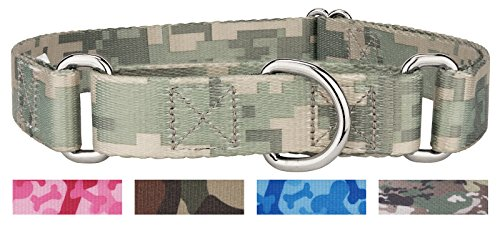 Country Brook Design 1 Inch Digital Camo Martingale Dog Collar - Large ()