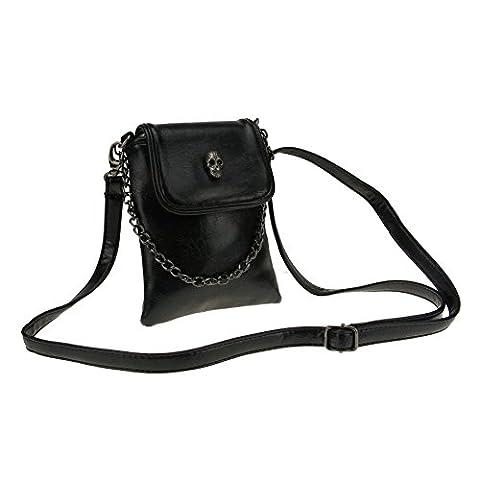 Women Ladies Teens Girls Kids Fashion PU Leather Mini Shoulder Bags Crossbody Bags Cell Phone Case Holder Small Wallet Purse Cash Key Coin Pouches Clutch Handbag Black