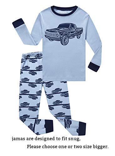 Family Feeling Car Little Boys Long Sleeve Pajama Sets for Child 100% Cotton Pyjamas Toddler Kids Pjs Size 4 -