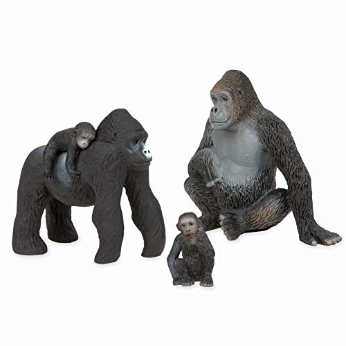 Terra by Battat - Gorilla Family - Small Gorilla Animal Toy Miniatures for Kids 3-Years-Old & Up (4 Pc) -