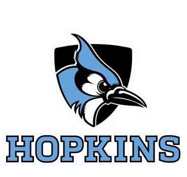 (John Hopkins Blue Jays Die Cut Decal 4