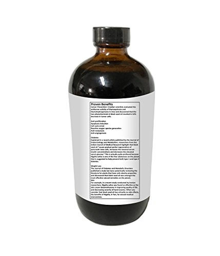 Alive Herbal Black Seed Oil Indian, Cold Pressed Organic -100% Raw, First Pressing, Unfiltered, Vegan & Non-GMO, No Preservatives & Artificial Color Amber Glass 16 OZ by Alive herbal (Image #4)