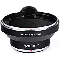 K&F Concept Lens Mount Adapter Bronica SQ Lens to Nikon Camera Mount Pro Adapter