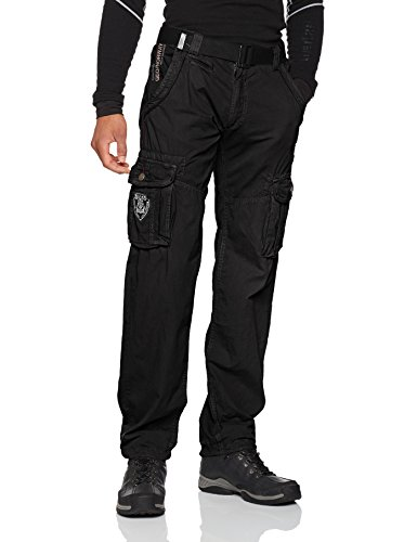 black Men Geographical Norway Padang Noir Pant Pantalon Homme P60HUS