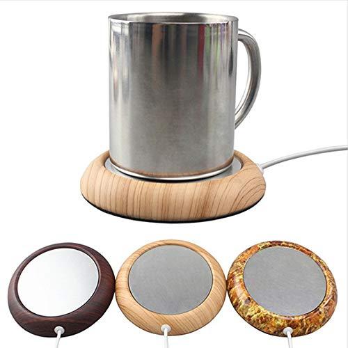 Ocamo Almohadilla térmica portátil de la Taza del USB, cojín del Aislamiento de la Bebida del café del té Negro Mate