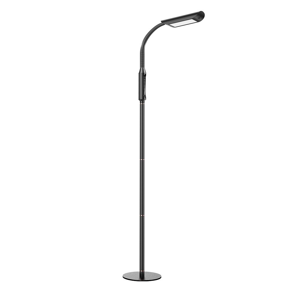 Floor Lamp, VAVA Dimmable LED Floor Lamps for Living Room, 1815 Lumens & 50,000 Hours Lifespan, Standing Lamp Desk Lamp Two in One, Flexible Gooseneck, Touch Control Panel, UL Adapter, 12W, Black