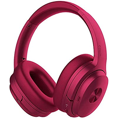 cowin SE7 Active Noise Cancelling Headphones Bluetooth Headphones Wireless Headphones Over Ear with Mic Aptx  Comfortable Protein Earpads 50H Playtime  Foldable Headphones for Travel Work  Purple