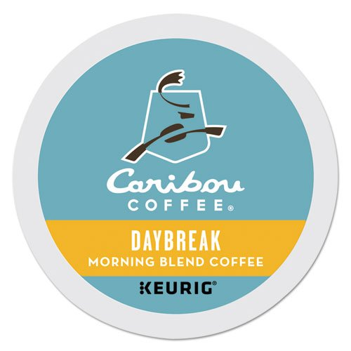 Caribou Coffee Daybreak Morning Blend Keurig Single-Serve K-Cup Pod, Light Roast Coffee, 24 Count