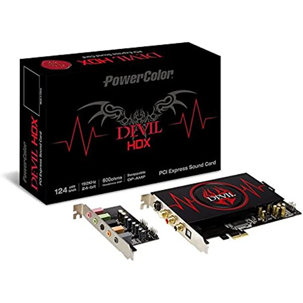 PowerColor Devil HDX Sound Card Interno 7.1 Canales PCI-E ...
