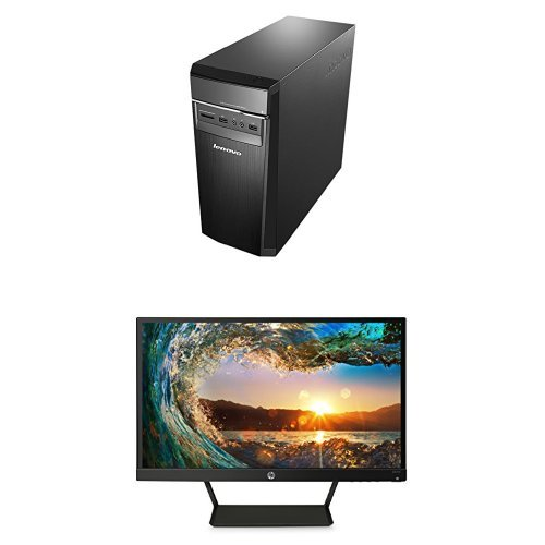 Photo - Lenovo Ideacentre 300 Desktop Computer, Black (Intel Core i3, 8GB DDR4 RAM, 1TB HDD, Windows 10) 90DA00LPUS + HP Pavilion 21.5-Inch IPS LED HDMI VGA Monitor