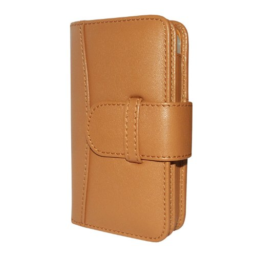 Piel Frama U504C Wallet Ledertasche für Apple iPhone 4/4S hellbraun