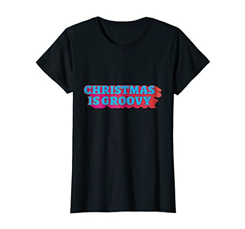 Womens Retro Christmas 70s Shirt Vintage Cool Old School Sayings Medium Black -