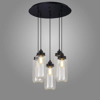 Electro_BP;Modern Simple Style Art Glass Pendant Light Max 300W With 5 Lights Painted Finish.