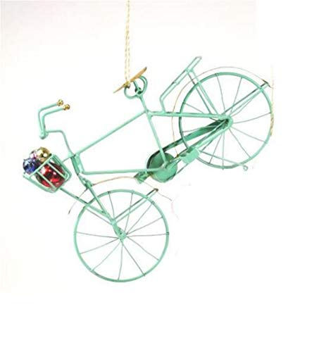 Cody Foster Retro Holiday Mint Green Bike Bicycle Christmas Village Ornament (Holiday Ornament Bicycle)