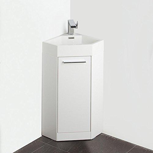 Corner Bathroom Vanity Dimensions: Fresca FVN5082WH-FFT1030BN Coda Modern Corner Bathroom