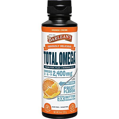 Barlean's Seriously Delicious Total Omega, Orange Crème, 8-oz