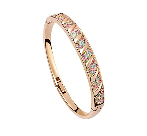 The Starry Night Agreed Upon in the Life Theme Deluxe Colorful Diamond Accented Bangle -