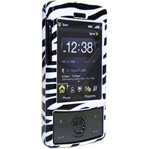 Amzer Snap-On Crystal Hard Case for HTC Touch Diamond - Zebra Print
