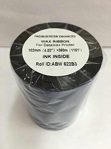 (4 Rolls Premium Resin Enhanced BLACK WAX RIBBONS 4.02