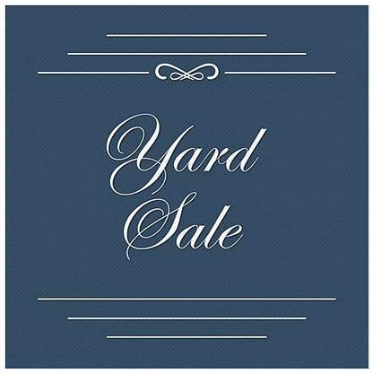 CGSignLab 24x24 Classic Navy Perforated Window Decal Yard Sale 5-Pack