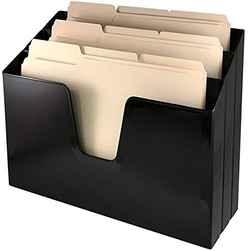 [해외]Acrimet Horizontal 트리플 파일 폴더 정리함 (폴더 포함) (블랙 색상) / Acrimet Horizontal Triple File Folder Organizer (Folders Included) (Black Color)