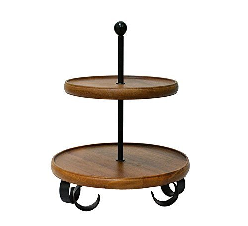 222 Fifth 5088BR910A1K90 Henley 2 Tier Server Stand, Wood