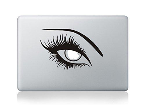 Womens Sexy Eyes Covergirl Apple Mac Sticker Skin Decal Vinyl Apple Macbook Pro Air 13 15 17 Inch Retina Laptop Wall