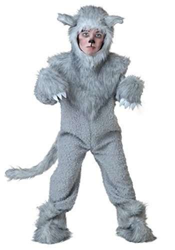 Timber Wolf Costume for Children, Boys Girls Cute Halloween Animal Cosplay Outfit Masquerade Accessory (Masquerade Outfits)