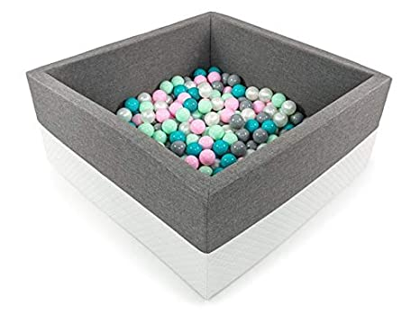 Tweepsy Soft Baby Toddler Kids Play Ball Square Pool Pit Toys 250 Balls 90x90x40cm Handmade EU - BKWE2