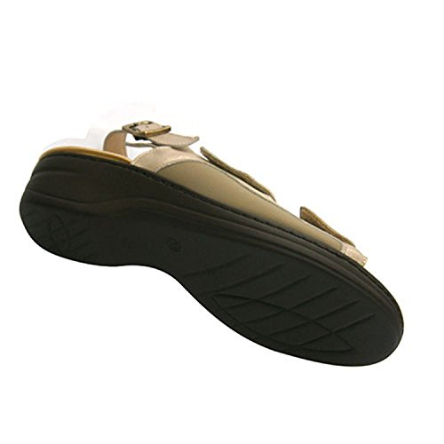 Cómoda De Con Ligera En Combinada Beig Y Muy Velcro Licra Sandalia Piel Andinas Mujer ZxawEqWv