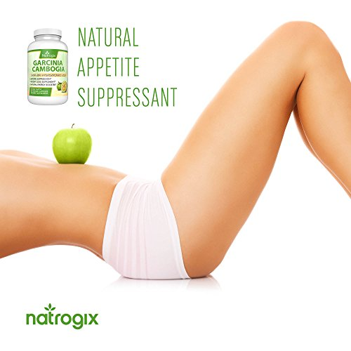 Natrogix Pure Garcinia Cambogia w/ 80% HCA (Hydroxycitric Acid) Complex All Natural Appetite Suppressant, Weight Loss Supplement Formula