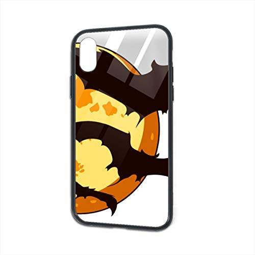 iPhone X Case,iPhone Xs Case,Bat Cute Halloween.png Luxury Protective Smooth Tempered Glass Cover Soft Anti-Skid for iPhone X XS 5.8