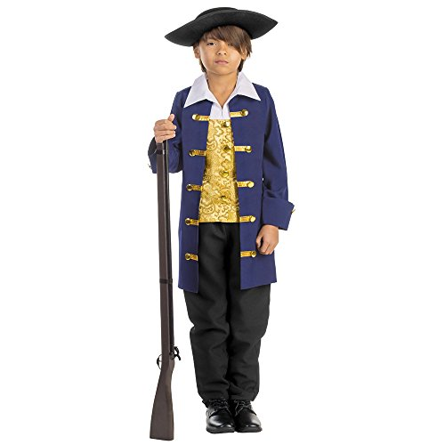America Covers Boot (Dress Up America Boys Colonial Aristocrat Costume,Blue,Medium 8-10 (31waist, 47height))
