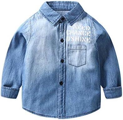 Camisa Vaquera Niños Niñas Chaqueta Denim Azul Camisetas de Manga Larga 2-3 Años: Amazon.es: Bebé