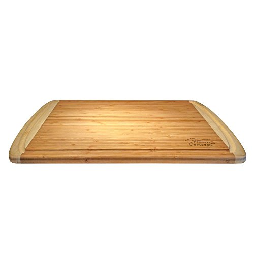 Organic Bamboo [ HEIM CONCEPT ] Cutting Board and Serving Tray with Drip Groove Extra Large [ 18 x 12 inches - 1'' inch Thick ] Eco-Friendly Thick Strong Premium Bamboo Kitchenware by Heim Concept (Image #4)