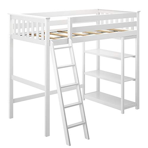 Max & Lily Solid Wood Twin-Size High Loft Bed with