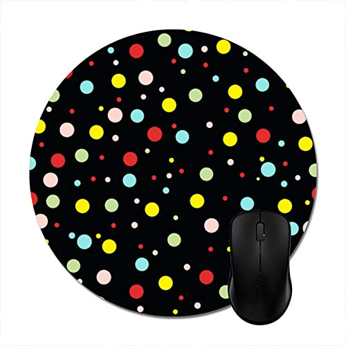 (Elegant Girly Colorful Polka Dots Mouse Pad 8