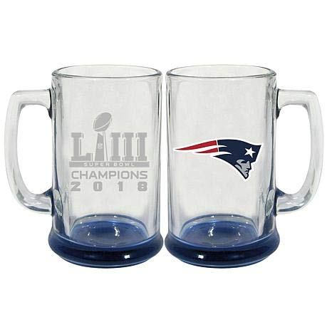 Memory Company New England Patriots Super Bowl LIII Champions Stein Glass (Package of - Company England New Glass