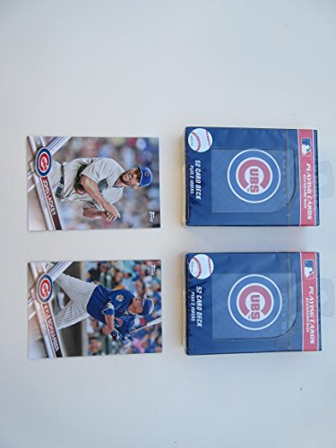 CHICAGO CUBS NEW PLAYING CARDS (2) DOUBLE DECK SET & 2 COLLECTIBLE PLAYER CARDS ()