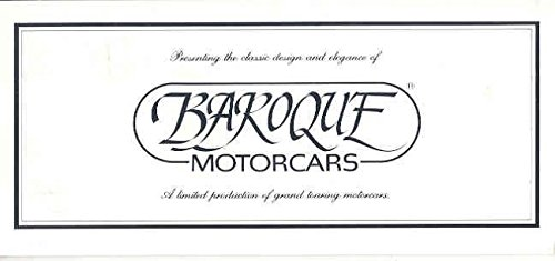 1983 ? Baroque Motorcar Neo-Classic Brochure
