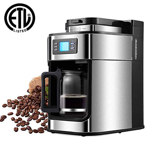 Coffee Maker,5 Cup Sizes Programmable Drip Coffee Maker with Coffee Pot, Timer & LED Display Automatic Coffee maker Machine Brewer for Office Kitchen