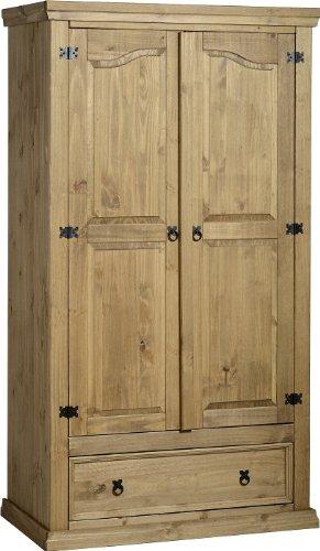 Corona - Armario ropero con 2 puertas y 1 cajón (madera de pino ...