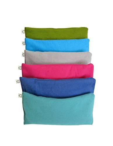 Peacegoods Unscented Organic Flax Seed Eye Pillow - Pack of (6) - Soft Cotton Flannel 4 x 8.5 - Pink Green Purple Gray Fuschia Aqua Turquoise Blue by Peacegoods (Image #10)
