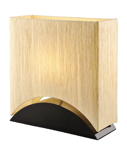 artiva usa sakura modern u0026 design 17inch premium shade w black lacquer wood base table lamp - Unique Table Lamps