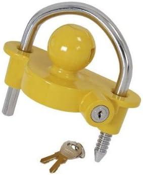 Neilsen ct3123Universal caja de cerradura para caballo remolques de enganche de seguridad acoplamiento/caravana accesorios para bola de remolque, color amarillo