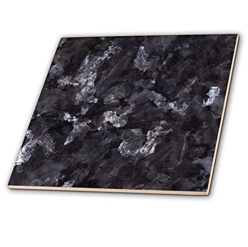 3dRose ct_97938_2 Blue Pearl Granite Print Ceramic Tile, 6