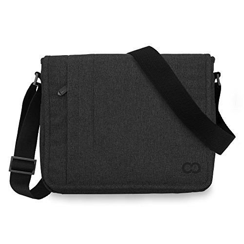 12 Inch MacBook Bag, CaseCrown Campus Messenger Bag (Black Stealth) (Campus Messenger)