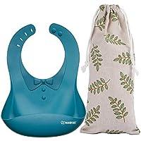 Haakaa Silicone Baby Bibs | Toddler Bib - Waterproof - Easy Clean - Adjustable - BPA Free
